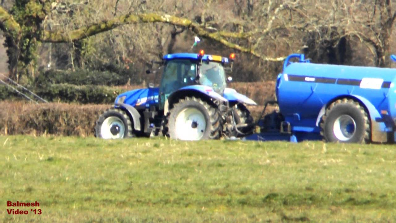 new tractor blue tanker eye catching colour for spreading youtube
