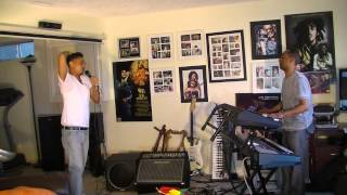 Ethio Man  ብርሃን አለሙ  rehersing Teddy Afro song Afrikaye for Canada show with Yoseph Tamrat .