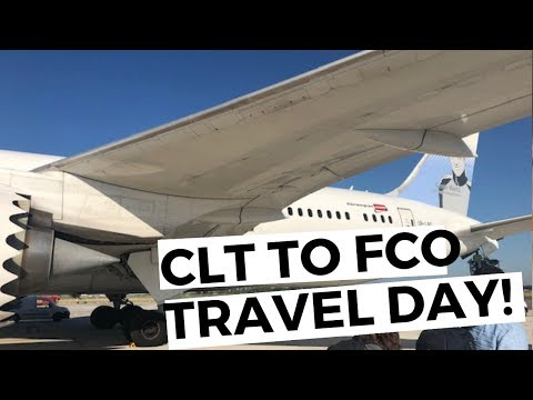 CHARLOTTE TO ROME, ITALY! | TRAVEL DAY VLOG (priority Pass Explained In An Airport Terminal)
