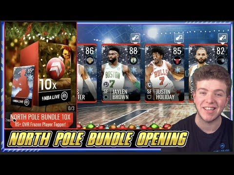 10x ELITE FROZEN PLAYERS PACKED! NORTH POLE BUNDLE PACK OPENING! | NBA LIVE MOBILE 19 S3 NORTH POLE