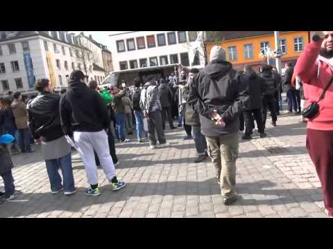 Shia with Hooligans and Nazis against Islam in Germany