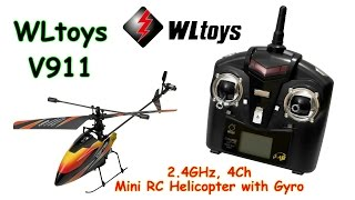 WLtoys V911 2.4GHz, 4Ch, Mini RC Helicopter with Gyro (RTF)