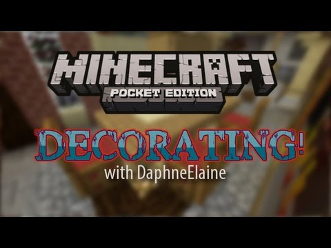 Minecraft Pocket Edition Decorating Ideas House Tour YouTube
