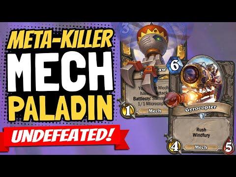META-KILLER MECH PALADIN!! Destroying Face Hunter & More! | Descent Of Dragons | Hearthstone
