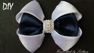 A bow of satin ribbon with your own hands DIY Svetlana Zolotareva