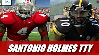 SANTONIO HOLMES THROUGH THE YEARS - NCAA FOOTBALL 2004 TO MADDEN 16