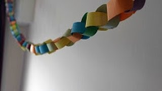 How To Make A Paper Chain Without Glue Or Tape [HD]