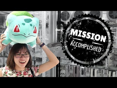 Can we win the key to unlock a HUGE Bulbasaur? | South Korea  인형뽑기 | Catch A Toy #44