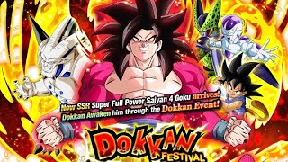 BACK WITH DAT LUCK! Full Power Super Saiyan 4 Goku Dokkan Festival Summoning Event DBZ Dokkan Battle