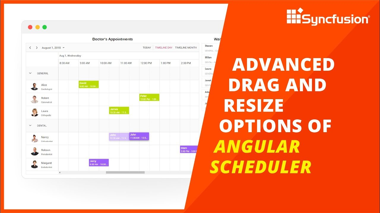 Advanced Drag and Resize Options of Angular Scheduler