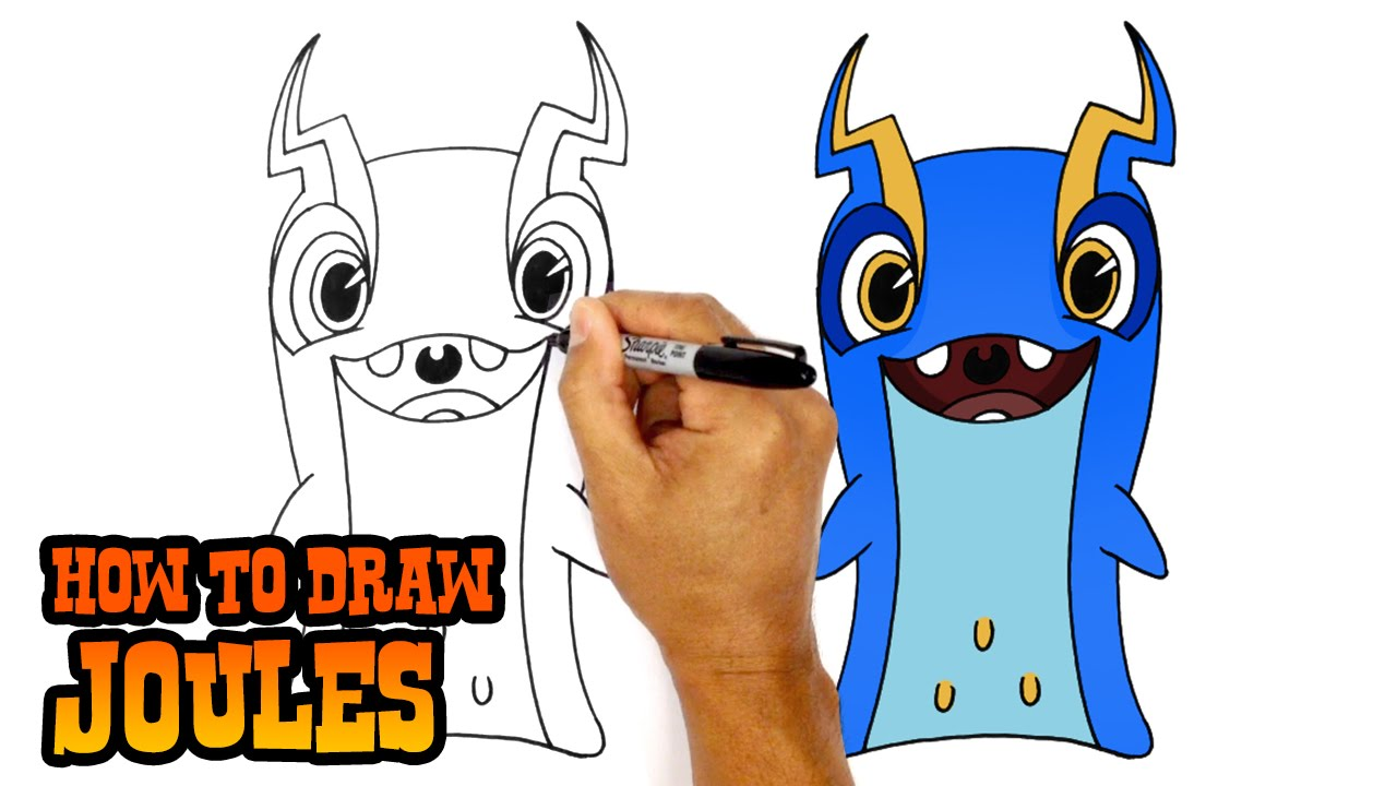 How To Draw Joules Slugterra Youtube