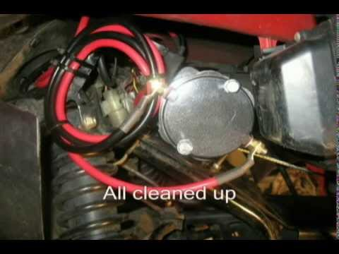 honda rancher winch install youtube