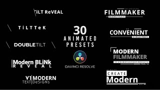 30 Professional Title Animations For Davinci Resolve