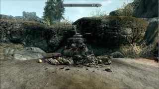 The Elder Scrolls V Skyrim The Sword in The Stone.(Excalibur  Easter Egg.)
