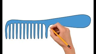 How To Draw a Comb Step By Step Easy For Kids