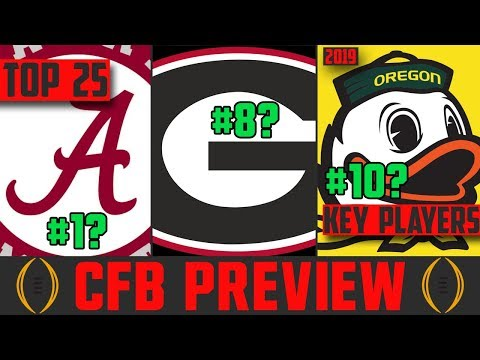 2019 College Football Rankings & Predictions (CFB Preview 2019)