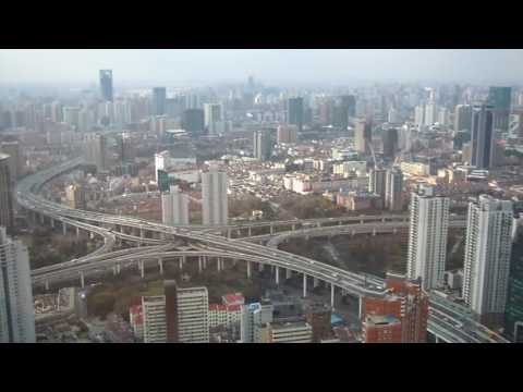 bird perspective view on Shanghai traffic