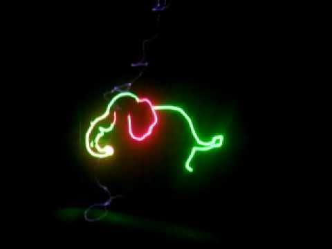 Đèn laser mini quét hàng trăm hình động - Den san khau