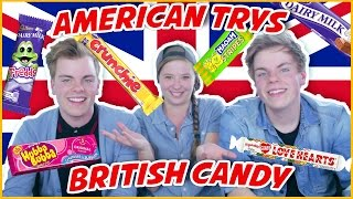 One of Niki and Sammy's most viewed videos: AMERICAN TRYING BRITISH CANDY |  ft. HeyThere005 | NikiNSammy
