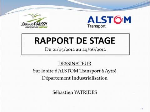 Alstom Soutenance Du Rapport De Stage Industriel Youtube