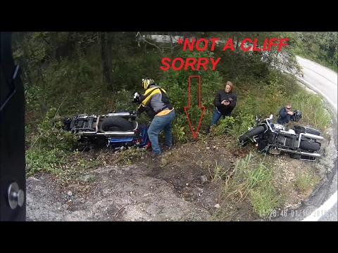 harley davidson owners ride off cliff