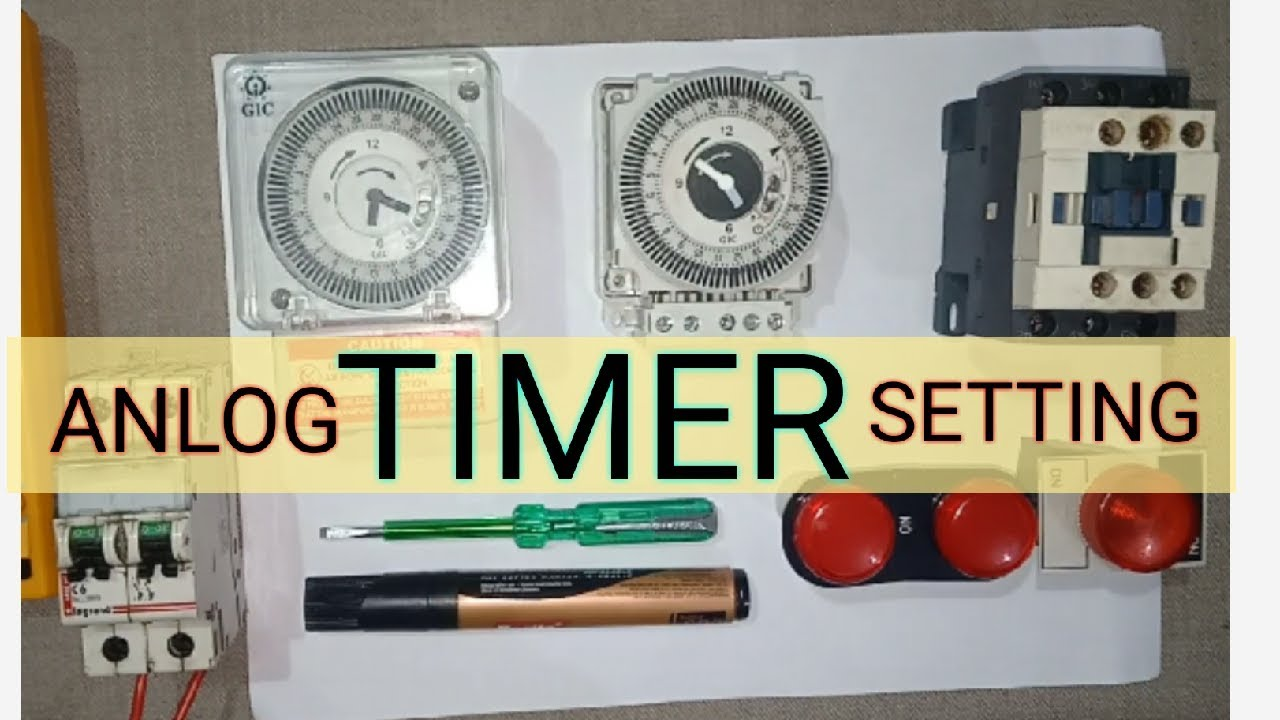 L T Gic Anlog Timer Setting With Control Wiring And Explain Timers All Mode Setting By Industrial