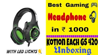 Best gaming headphone under ₹ 1000 | First look | Unboxing Cosmic Byte GS420 Headphones with LED 🎆