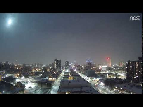 Meteor Over Windsor, Ontario & Detroit, Michigan