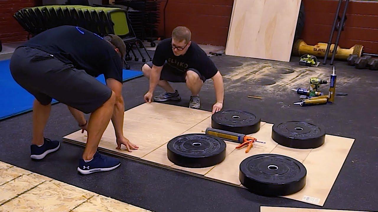 How To Correct A Slanted Platform You, Level Garage Floor For Gym