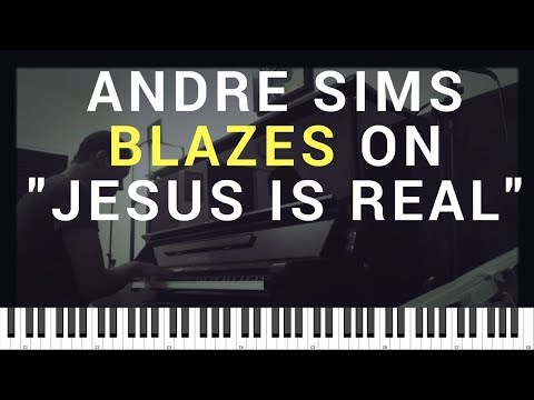 Andre Sims plays Jesus is Real on Piano  | How to learn while transcribing difficult musicians