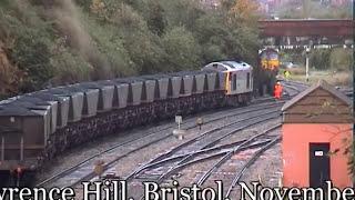 Rail Crash and Bridge strike at Lawrence Hill Bristol. 67002 badly damaged