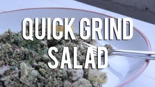Quick Raw Food Recipes? Quick Grind Raw Salad
