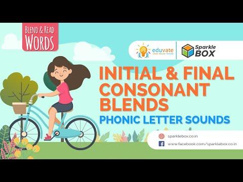 Blend & Read Words | Initial & Final Consonant Blends | Phonic Letter Sounds