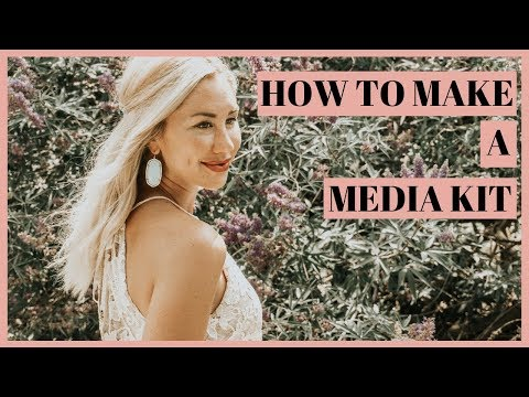 How To Make A MEDIA KIT For Free