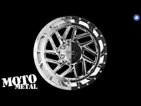 Moto Metal MO985 Breakout wheel comes in both Chrome and Gloss Black Machined   AudioCityUSA