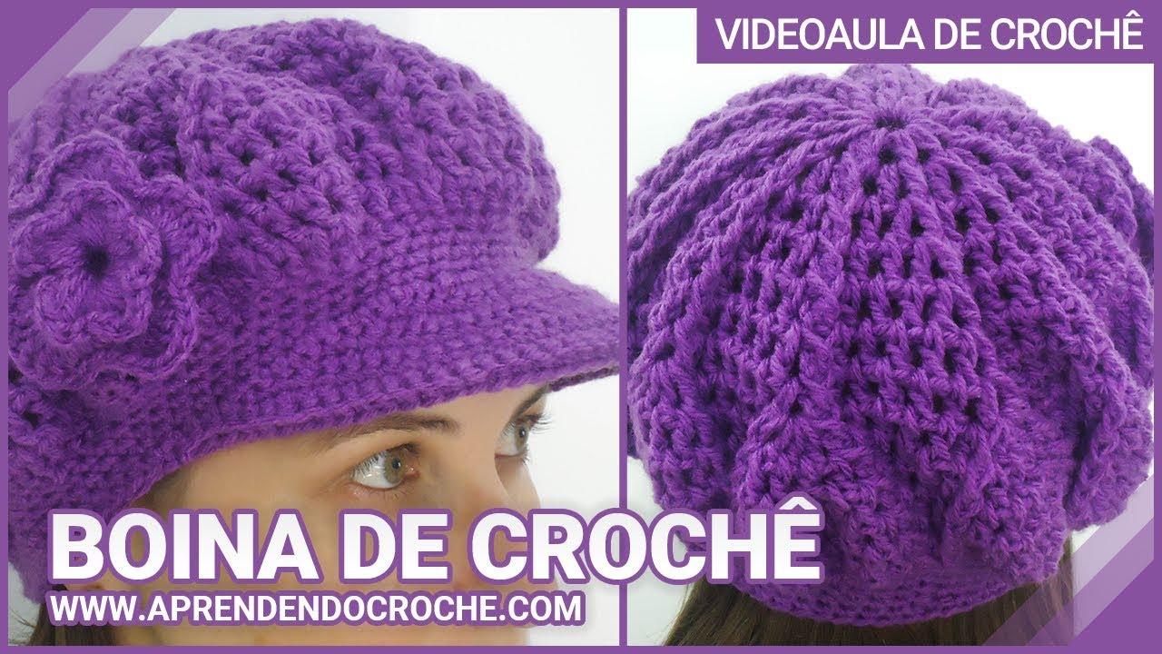 Boina de Croche Burguesinha - Aprendendo Crochê - YouTube fc39a78a9a4
