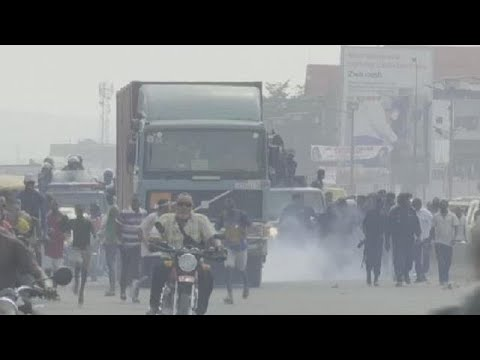 DRC police quell protest in Kinshasa