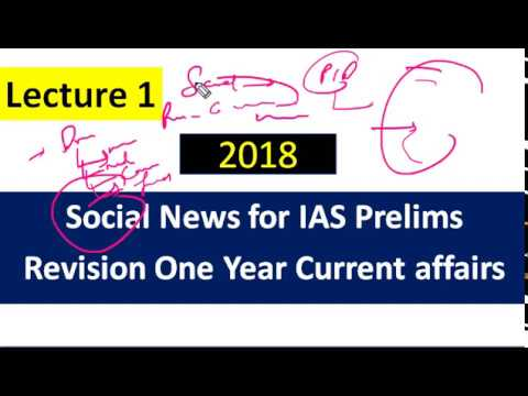 Lecture 1 Social Development  for IAS Prelims 2018 हिंदी में  (Revision One year Current Affairs)