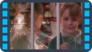 Кевин отпугивает грабителей — Один дома (1990) сцена 5/11 HD