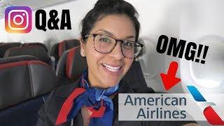 Instagram Q&A  |  American Airlines Announcement!!!!!  |  Flight Attendant Life