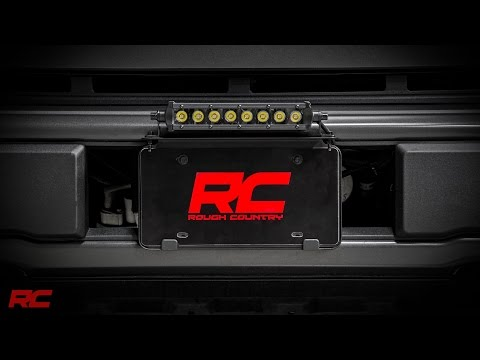 Universal 8-inch LED Light Bar License Plate Mount Kit by Rough Country