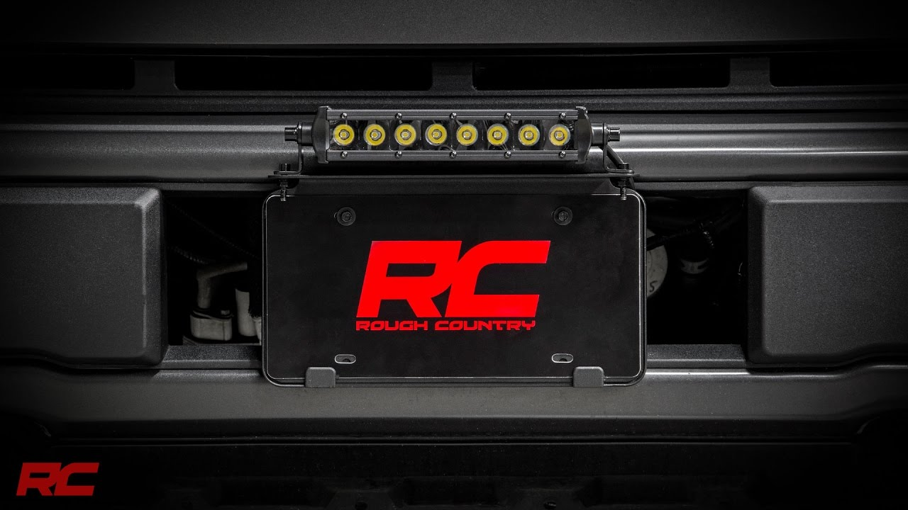 Universal 8 inch led light bar license plate mount kit by rough universal 8 inch led light bar license plate mount kit by rough country youtube mozeypictures Images