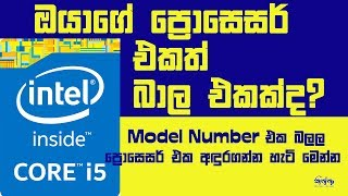 How to Identify Processor by Model Number - Sinhala