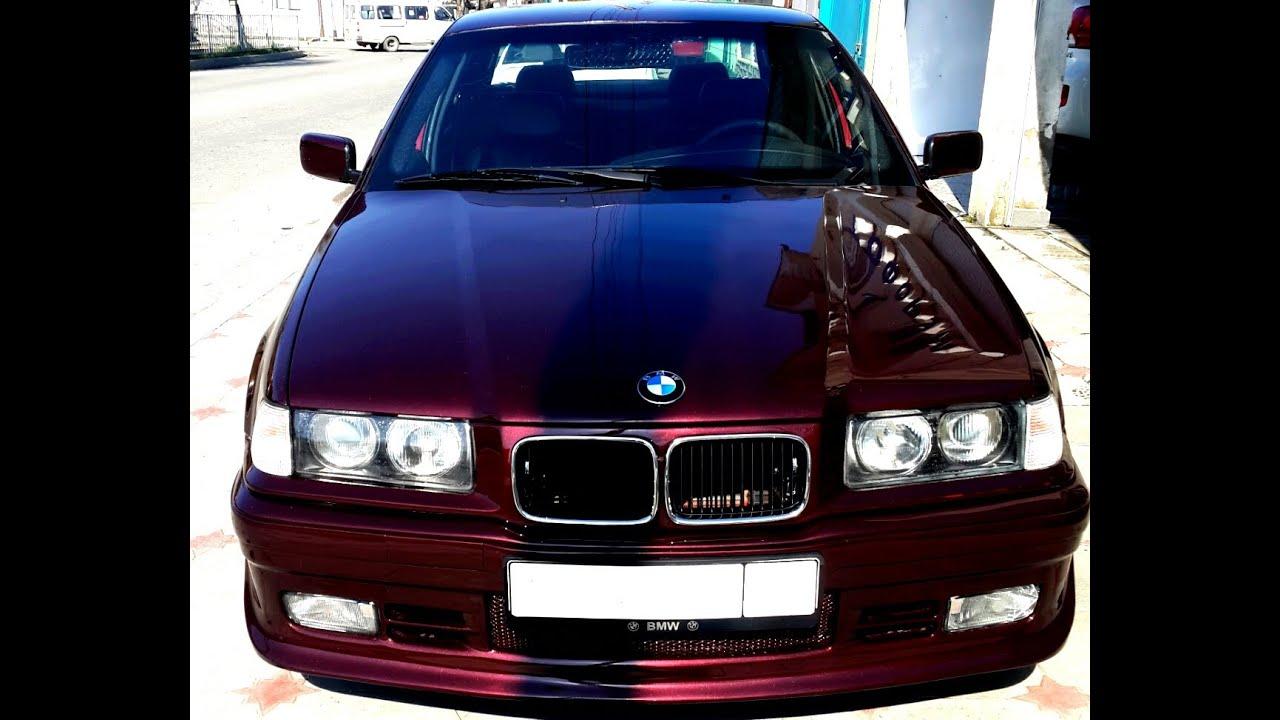 BMW E36 318i   замена глушителя (задней банки)