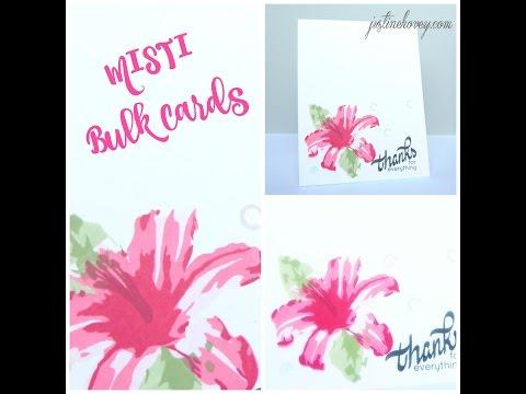 MISTI Thank You Bulk Cards Feat. Altenew Layered Lily