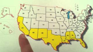 Learn the States Song for Kids- Southern Border of the United States