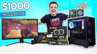 It's $1000 gaming pc build time! today i'm building a geared towards 1440p at high settings while hitting 60fps+. featuring ryzen 5 3600 chip and...