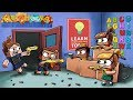 Minecraft - SCHOOL NERF WAR: Nerf Challenge! (Cafeteria, Gym, Class)