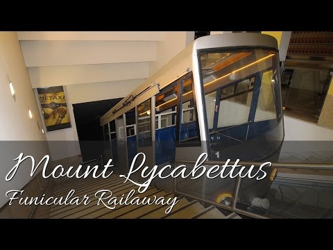 Mount Lycabettus Funicular Railway - Athens, Greece (Full HD)