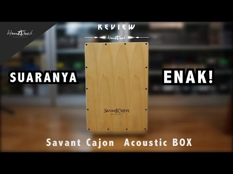Cajon Electric Murah, SUARANYA ENAK! - Savant Cajon Acoustic BOX [] REVIEW